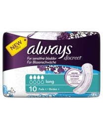 Always Discreet for Sensitive Bladder Long Pads 4 x 10 Pack (SoDiscreet)