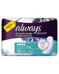 Always Discreet for Sensitive Bladder Long Pads 4 x 10 Pack (SoDiscreet)