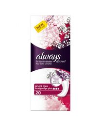 Always Discreet for Sensitive Bladder Liner Plus 4 x 20 Pack