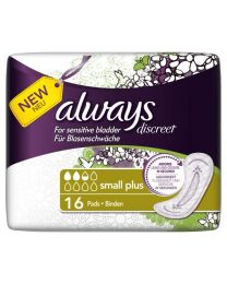 Always Discreet for Sensitive Bladder Small Plus Pads 6 x 16 Pack (SoDiscreet)