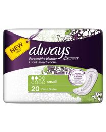 Always Discreet for Sensitive Bladder Small Pads 6 x 20 Pack (SoDiscreet)