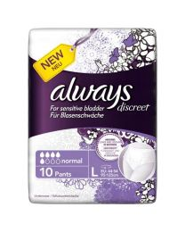 Always Discreet - Pants Large (95-125cm) 10 Pack