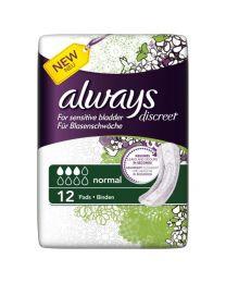 Always Discreet for Sensitive Bladder Normal Pads 12 Pack (SoDiscreet)
