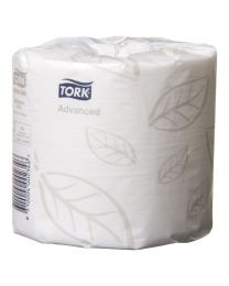 Tork T4 Advanced Soft Toilet Paper - Carton of 48 Rolls.  400 Sheets per Roll.