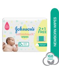 J&J Baby Cottontouch Extra Sensitive Wipes. Triple Pack 3x56s (168 Wipes).
