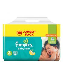Pampers Baby Dry Size 3 Nappies