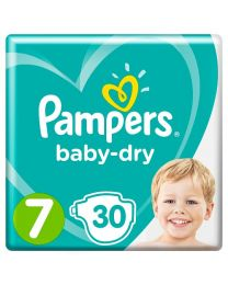Pampers Baby Dry Nappies Size 7