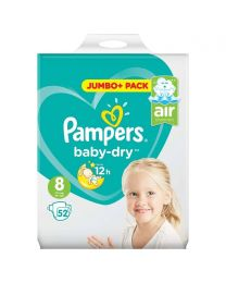 Baby Dry Size 8 17kg+ Economy Pack (52 Nappies)