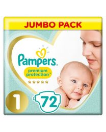 Pampers Premium Protection - Size 1 Nappies