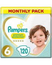 Pampers Premium Protection Size 6 - Monthly Savings Pack