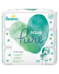 Pampers Aqua Pure Wipes - 3x70 Bags - 210 Wipes