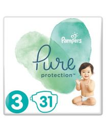 Pampers Pure Protection Size 3 31 Nappies Essential Pack 6-10kg