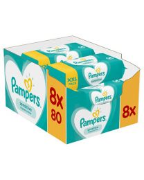Pampers 8x80 Sensitive Wipes