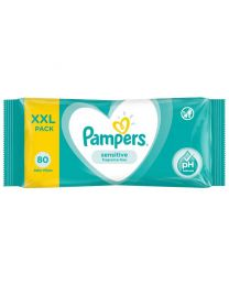 Pampers Sensitive Wipes - XXL Travel Pack 80