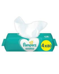Pampers Sensitive Wipes 4x80 Pack
