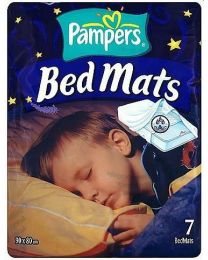 Pampers Bed Protection Mats - Carton of 3x7 Bags