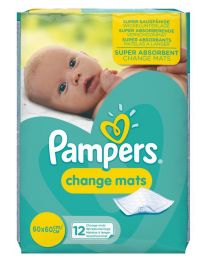 Pampers Change Mats - Carton of 5x12 Mats