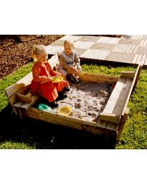 Square Sandpit with Benches and Folding Lid