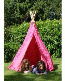Childrens Pink Loveheart Wigwam/Teepee
