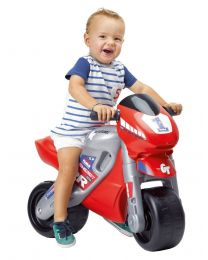 Red MotoFeber 2 Racing Balance Bike with Helmet