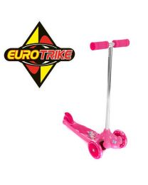 Eurotrike Pink Twist & Roll Tri Scooter