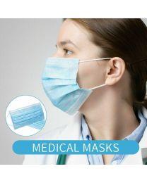 TEB 3 Ply Medical Grade Face Masks - Pack of 50